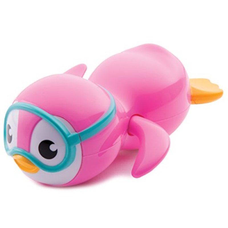 Munchkin Wind Up Swimming Penguin Bath Toy, Pink
