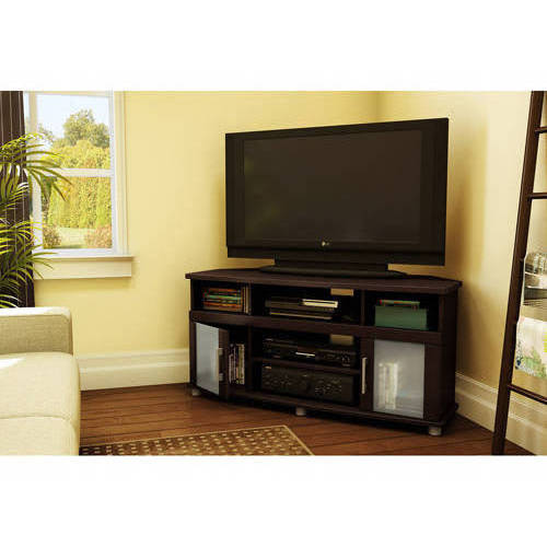 """South Shore City Life Corner TV Stand, for TVs up to 50"""" Multiple Finishes"""
