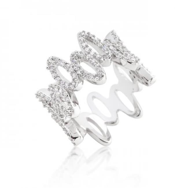 Icon Bijoux R08308R-C01-08 Cubic Zirconia Oval Fashion Ring (Size: 08)