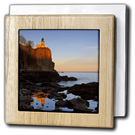 3dRose Split Rock Lighthouse, Two Harbors, Minnesota - US24 CHA0071 - Chuck Haney, Tile Napkin Holder, 6-inch