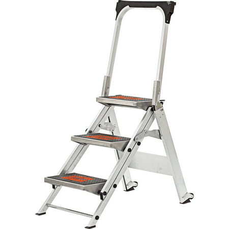 Little Giant Safety Step 3 Step Ladder Walmart Com