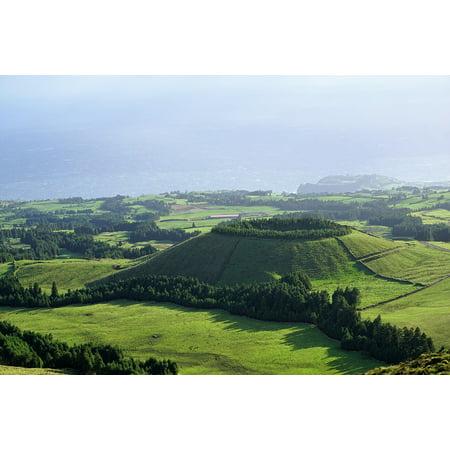 Canvas Print Nature Landscape Portugal Azores Sky Green Stretched Canvas 10 x 14