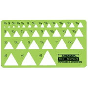 Rapidesign 51R Triangles and Diamonds Drafting Template