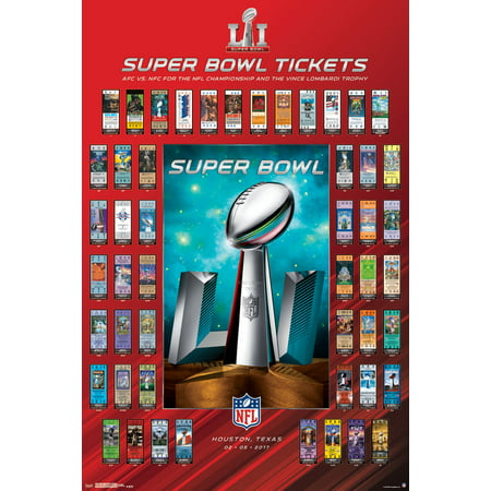 Super Bowl Li Tickets Nfl Football Sports Poster 22X34