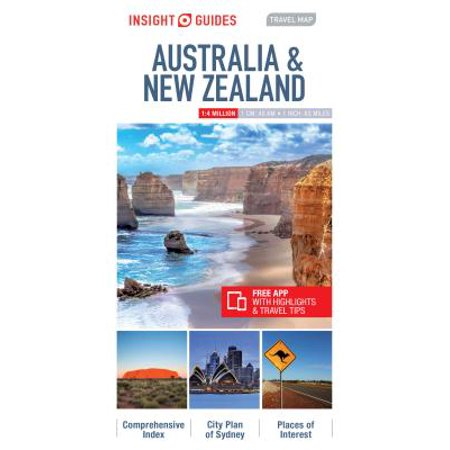Insight guides travel map australia & new zealand - folded map: