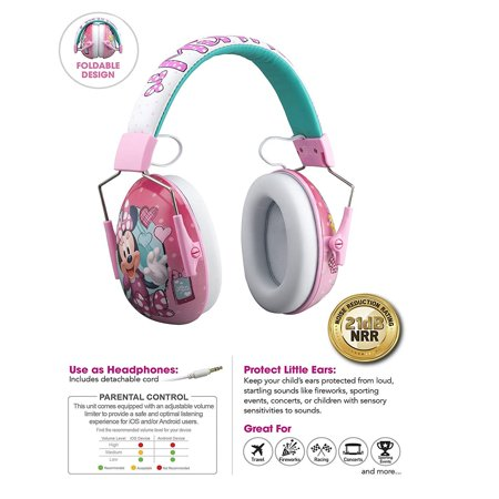 Minnie Mouse Kids Ear Protectors Earmuffs and Headphones 2 in 1 Noise Reduction and Headphones for Kids Ultra Lightweight (Minnie Mouse) - Minnie Mouse Headphones
