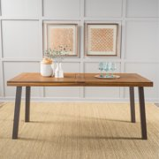 Noble House Gabrielle Natural Stained Acacia Wood Dining Table