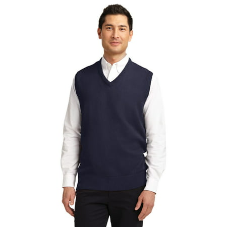 Mens Classic V-neck Sweater - Port Authority Value V-Neck Sweater Vest