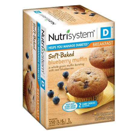Nutrisystem D Blueberry Muffins, 2 Oz, 4 Ct