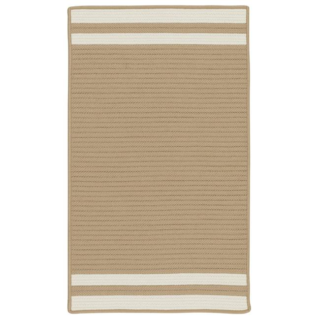 Colonial Mills Rug DE55R036X060S Denali End Stripe Braided Area Rug  Ivory - 3 x 5 ft. - image 1 of 1