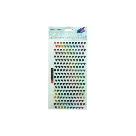 EK Sticko Sticker Metallic Micro Mini Hearts ()