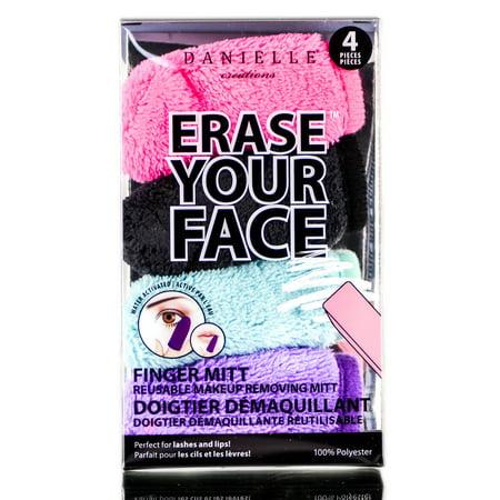 Danielle Creations Erase Your Face Finger Mitt Reusable Makeup Removing Mitt