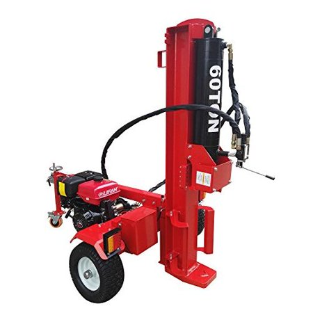60 Ton Log Wood Splitter Hydraulic 15HP Gas Engine - 4 Way Splitting Wedge - Electric Start - Tow Hitch Package - 1 Year Parts