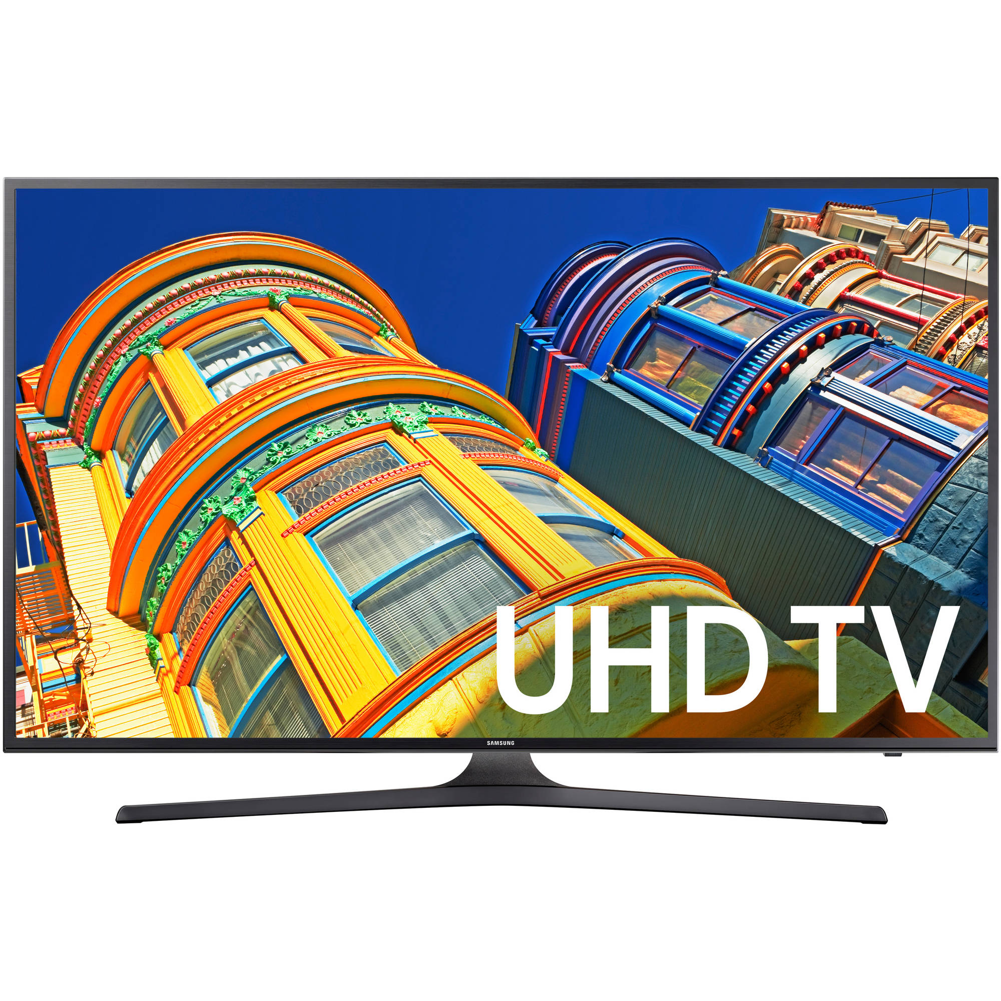 "Samsung un60ku6300f - 60"" class - 6 series led tv - smart tv - 4k uhd (2160p) 3840 x 2160 - hdr - direct-lit led, uhd dimming - dark titan - refurbished"