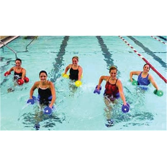 Fabrication Enterprises 20-4201R Cando Deluxe Aquatic Exercise Kit Jogger Belt, Ankle Cuffs & Hand Bars, Medium