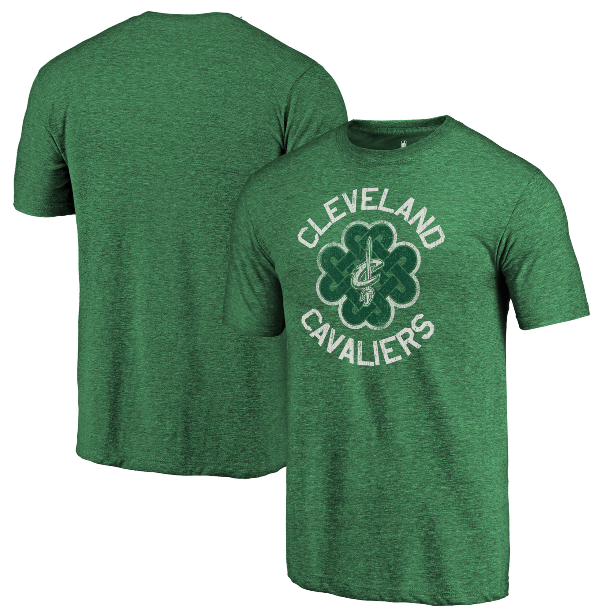 Cleveland Cavaliers Fanatics Branded St. Patrick's Day Luck Tradition Tri-Blend T-Shirt - Green