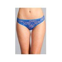 Be Wicked  BW1782RBL Delila Lace & Strap Panty Royal Blue / M