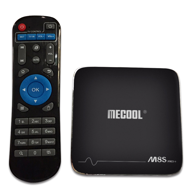 Mecool M8S PRO PLUS S905X 1G 8G WiFi 100M LAN 4Kx2K 60fps HDR10 H.265 HEVC VP9 Android 7.1 2.4G TV Box