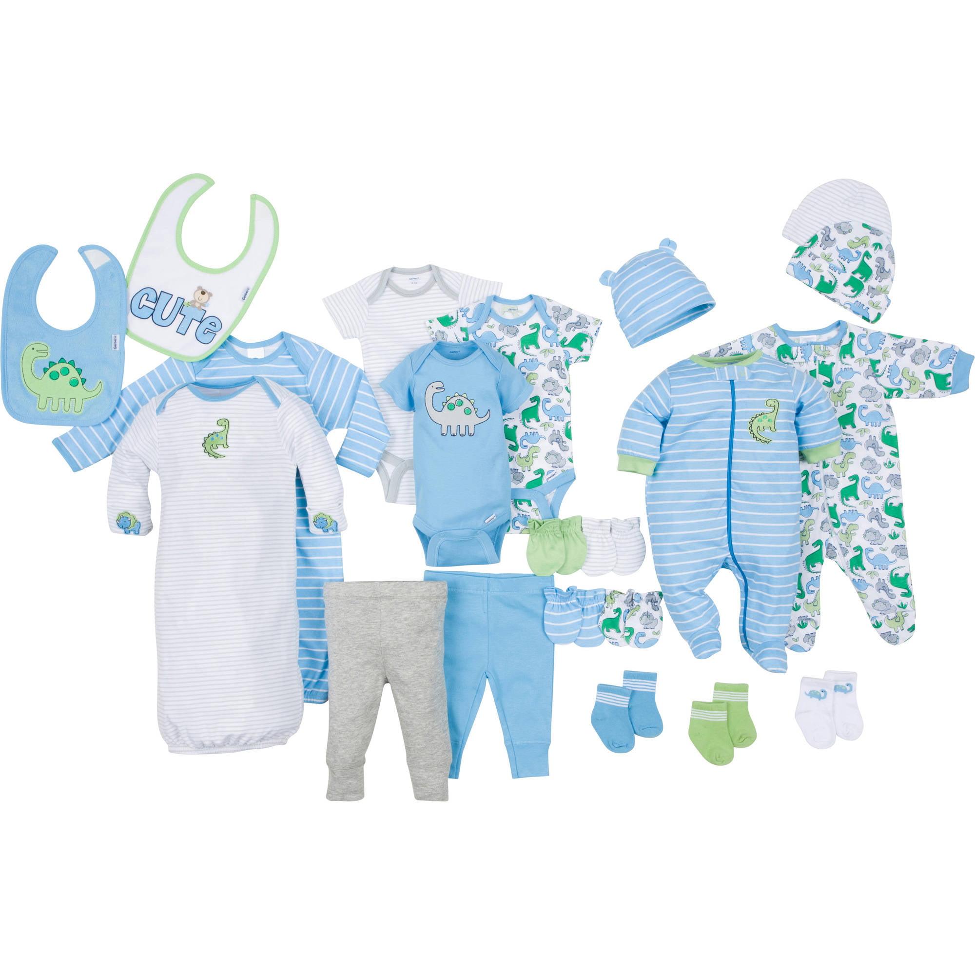 Gerber Newborn Baby Boy Perfect Baby Shower Gift 22-Piece Layette Set, Age 0-3M