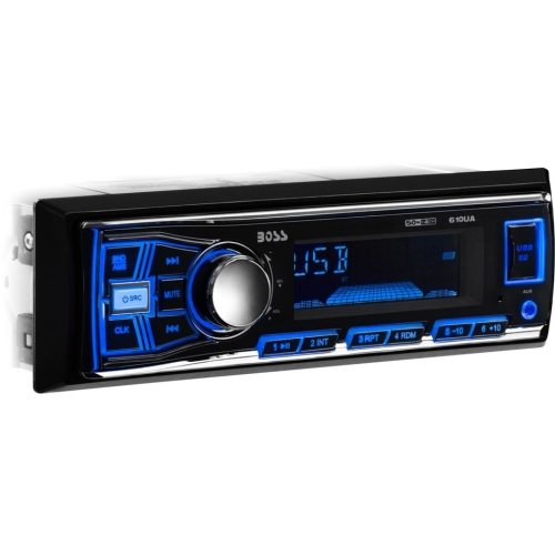 Boss Audio 610UA Single-DIN In-Dash Mechless AM/FM Receiver, Without Bluetooth