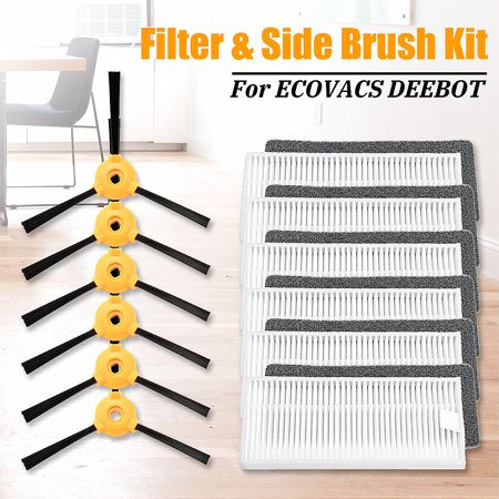 6Pcs N79 N79s Side Brush & Filter Kit New For DEEBOT Vacuum  - image 11 de 12