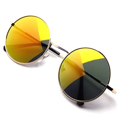 c3a5751ee72 Emblem Eyewear - Emblem Eyewear - John Lennon Sunglasses Round Hippie Shades  Retro Colored Lenses - Walmart.com