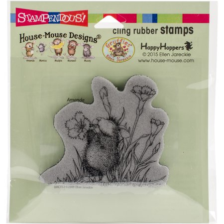 - Stampendous House Mouse Cling Stamp -Floral Trumpet