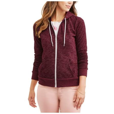 61baa0f2643a7 Faded Glory - Women's Cozy Fleece Zip-up Hoodie - Walmart.com