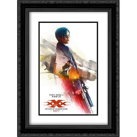 Xxx  Return Of Xander Cage 18X24 Double Matted Black Ornate Framed Movie Poster Art Print