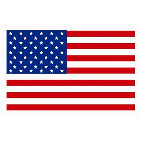 USA Flag Stickers (3 x 2 inch, 300 Stickers per Roll, Red, White & Blue) ()