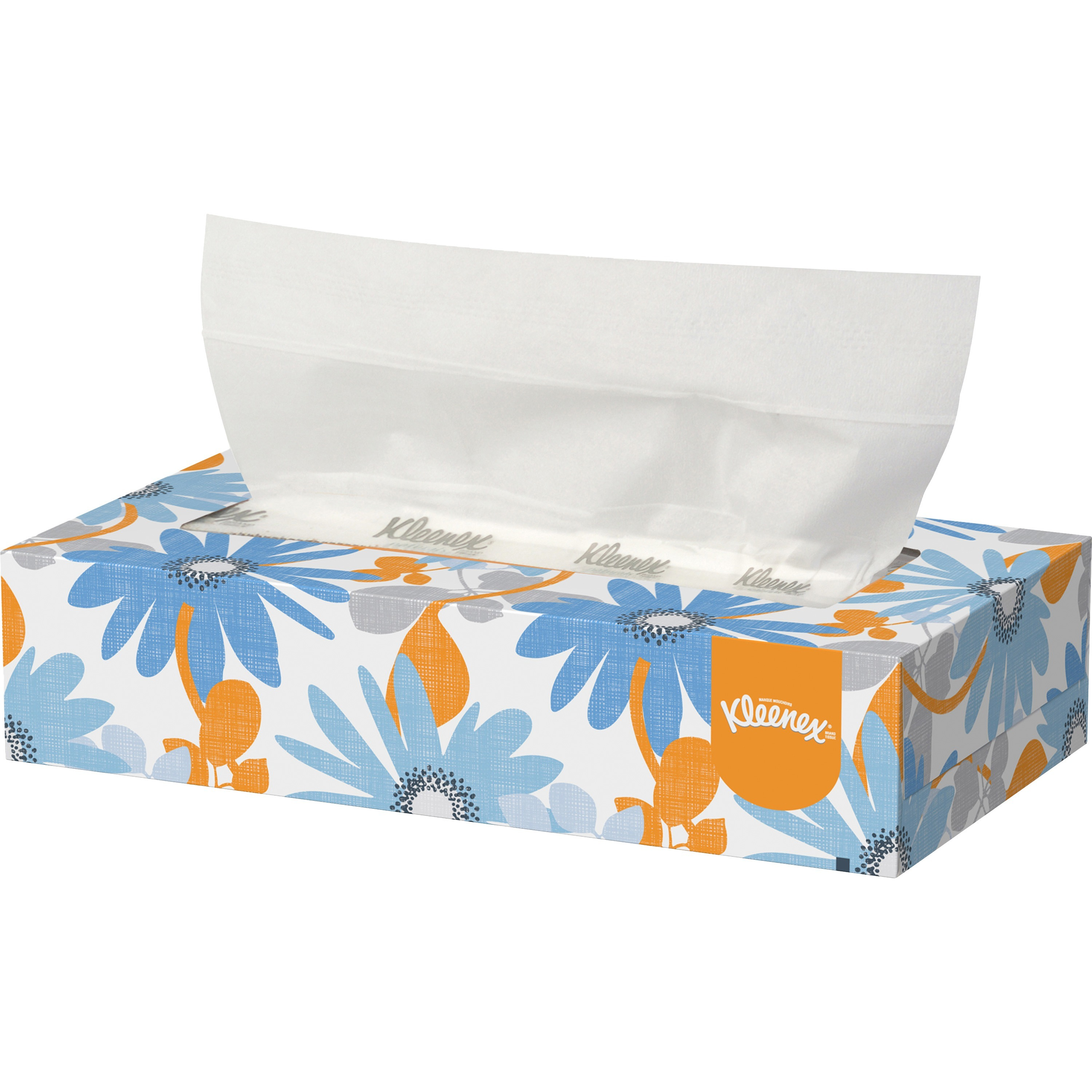 Kleenex, KCC21606BX, Low Profile Box Facial Tissues, 125 / Box, White