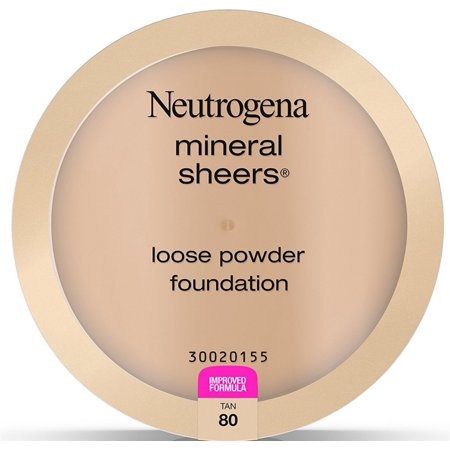 2 Pack - Neutrogena Mineral Sheers Loose Powder Foundation, Tan [80], .19 oz