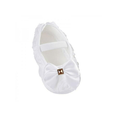 Nicesee Newborn Infant Baby Girl Bowknot Soft Sole Crib Shoes Prewalker 0-18 Months