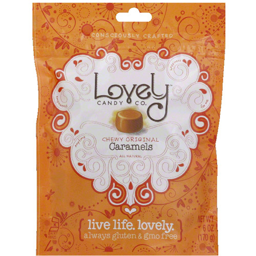 Lovely Candy Co. Chewy Original Caramels Candy, 6 oz (Pack of 12) by
