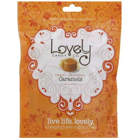 Lovely Candy Co. Chewy Original Caramels Candy, 6 oz (Pack of 12)