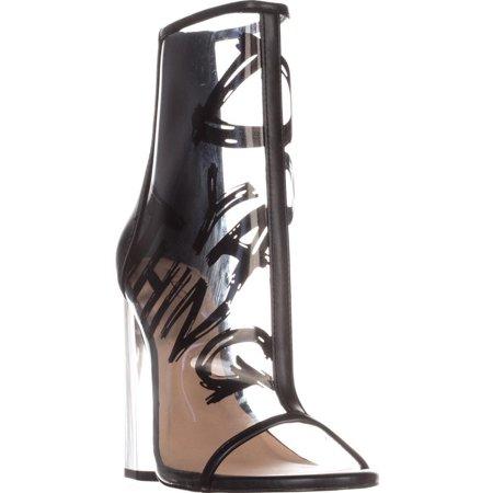 ef121cfad9db7b ALDO - Womens Aldo Gabbi Ankle Boots, Black/Clear - Walmart.com