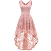 Market In The Box Women's Sleeveless Hi-Lo Lace Formal Dress V Neck Cocktail Party Dresses
