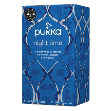 Pukka Herbs Organic Night Time Herbal Tea Bags, 20 (The Best Sleepy Time Tea)