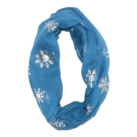Women's Snowflake Holiday Infinity Loop Scarf](Holiday Scarf)
