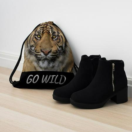 Unisex Printed Drawstring Bag Novelty backpack for Sports Animal Rucksack - image 4 de 4