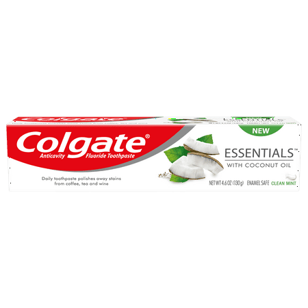 Colgate Essentials with Coconut Oil Whitening Toothpaste, 4.6 ounce