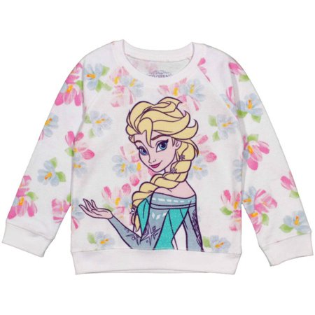 Disney Frozen Toddler Girl Elsa Floral Sweatshirt