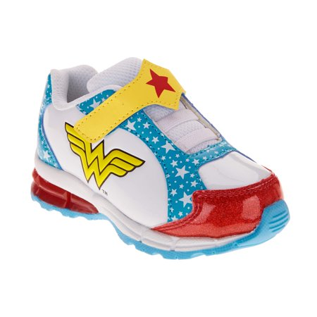 Wonder Woman Toddler Girls' Glitter Athletic Sneakers - Glitter Shoes Girls