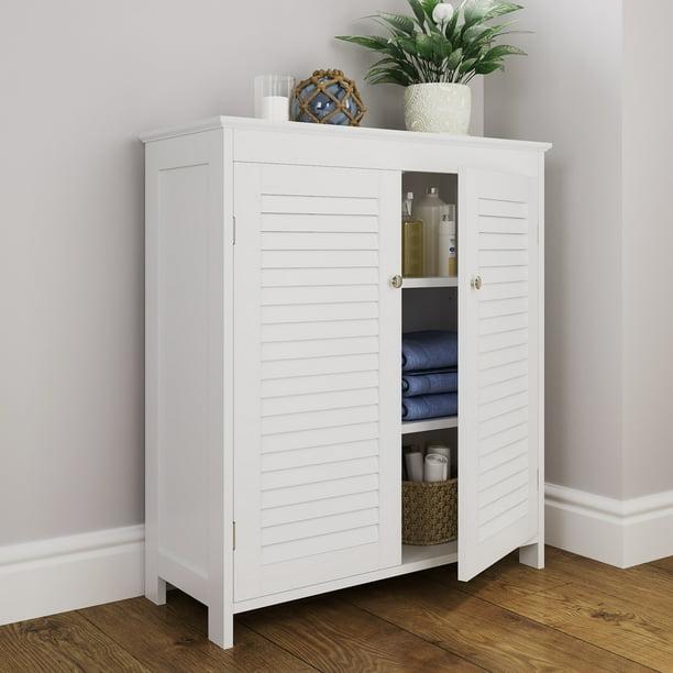 RiverRidge Ellsworth Two-Door Floor Cabinet, White - Walmart.com
