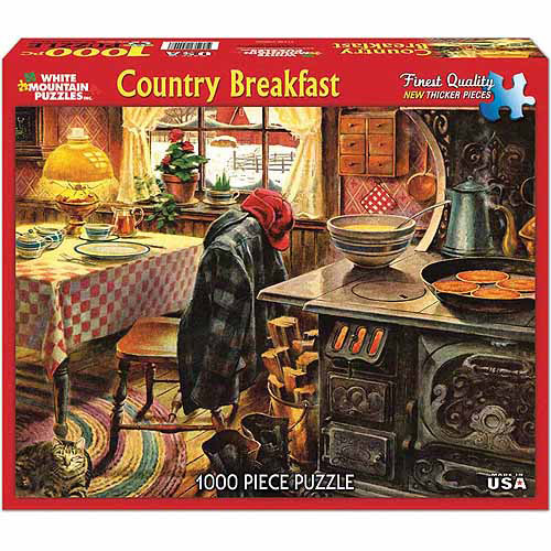 White Mountain Puzzles 1000-Piece Jigsaw Puzzle, Country Breakfast