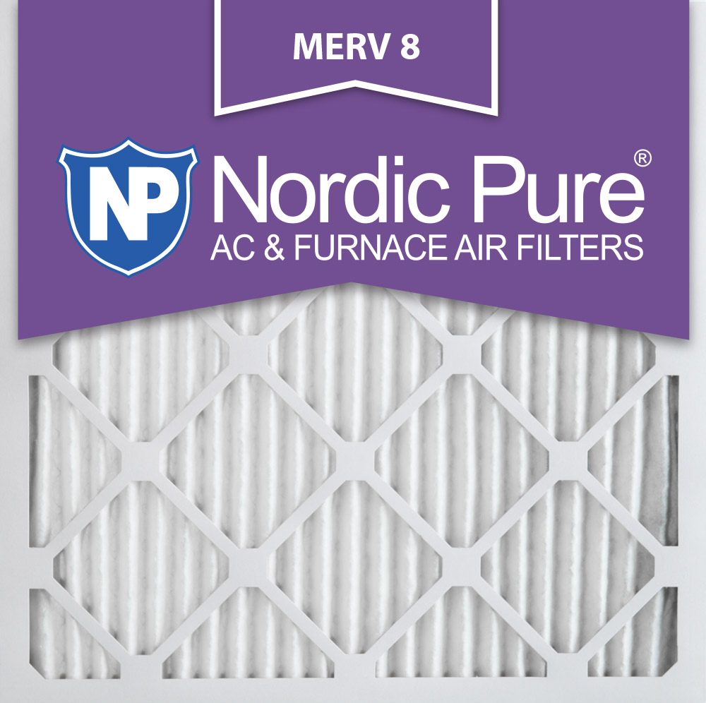 Nordic 10x10x1 Pleated MERV 8 AC Furnace Air Filters Qty 6