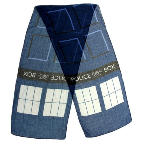 Doctor Who Tardis Lightweight Scarf SIZE: ONE SIZE FITS MOST