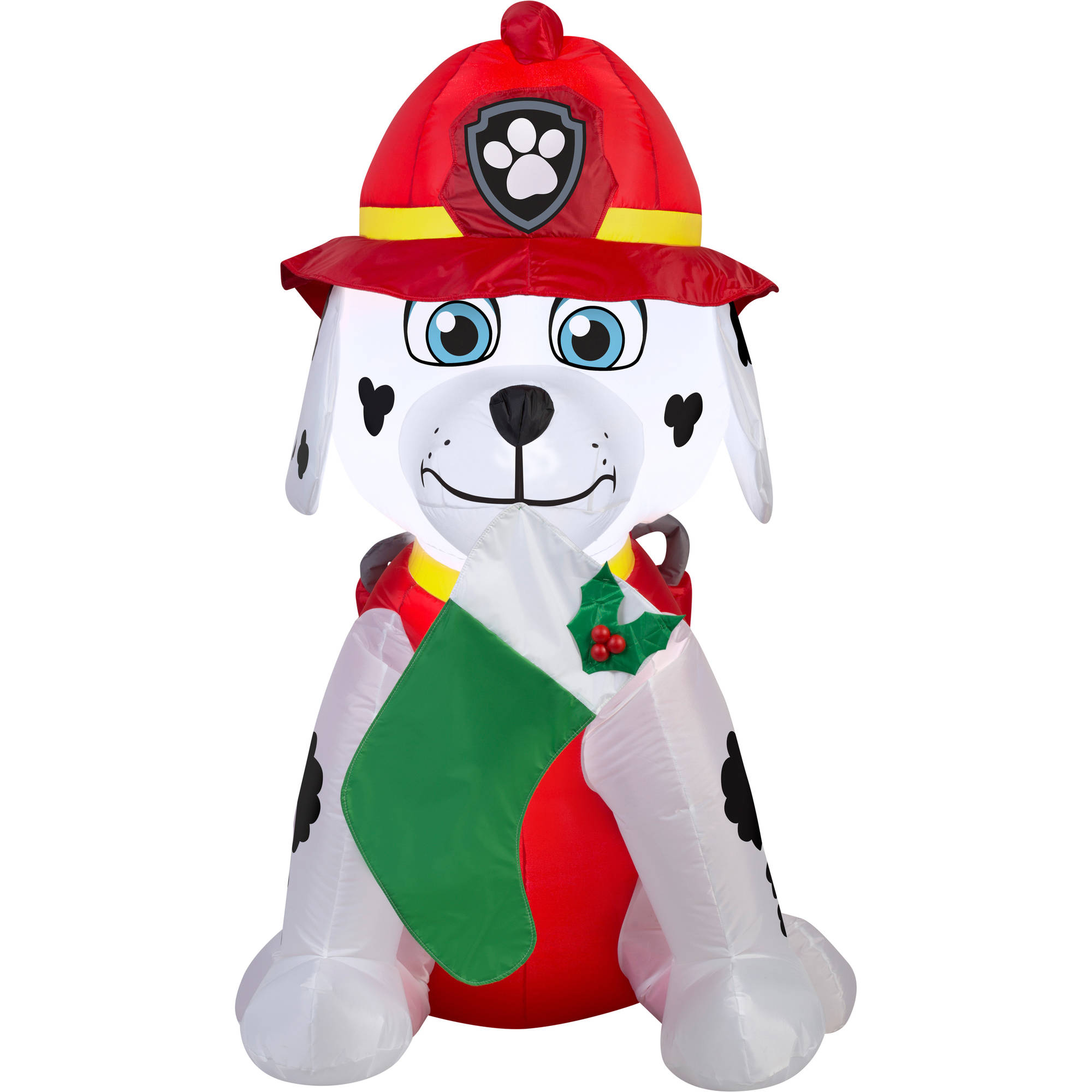 gemmy airblown inflatables christmas inflatable marshall with green stocking 4 walmartcom - Snoopy Blow Up Christmas Decorations