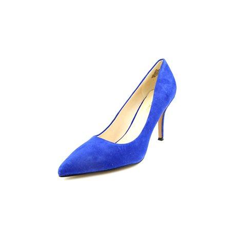 80745d3cb52 Nine West - Nine West Flax Women Pointed Toe Suede Blue Heels ...
