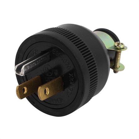 Industrial Grade NEMA 5-15 15A 125V Straight  Male Replacement Plug US Plug